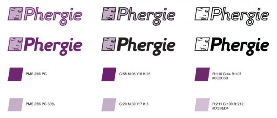 Phergie Logo Development Colors 2
