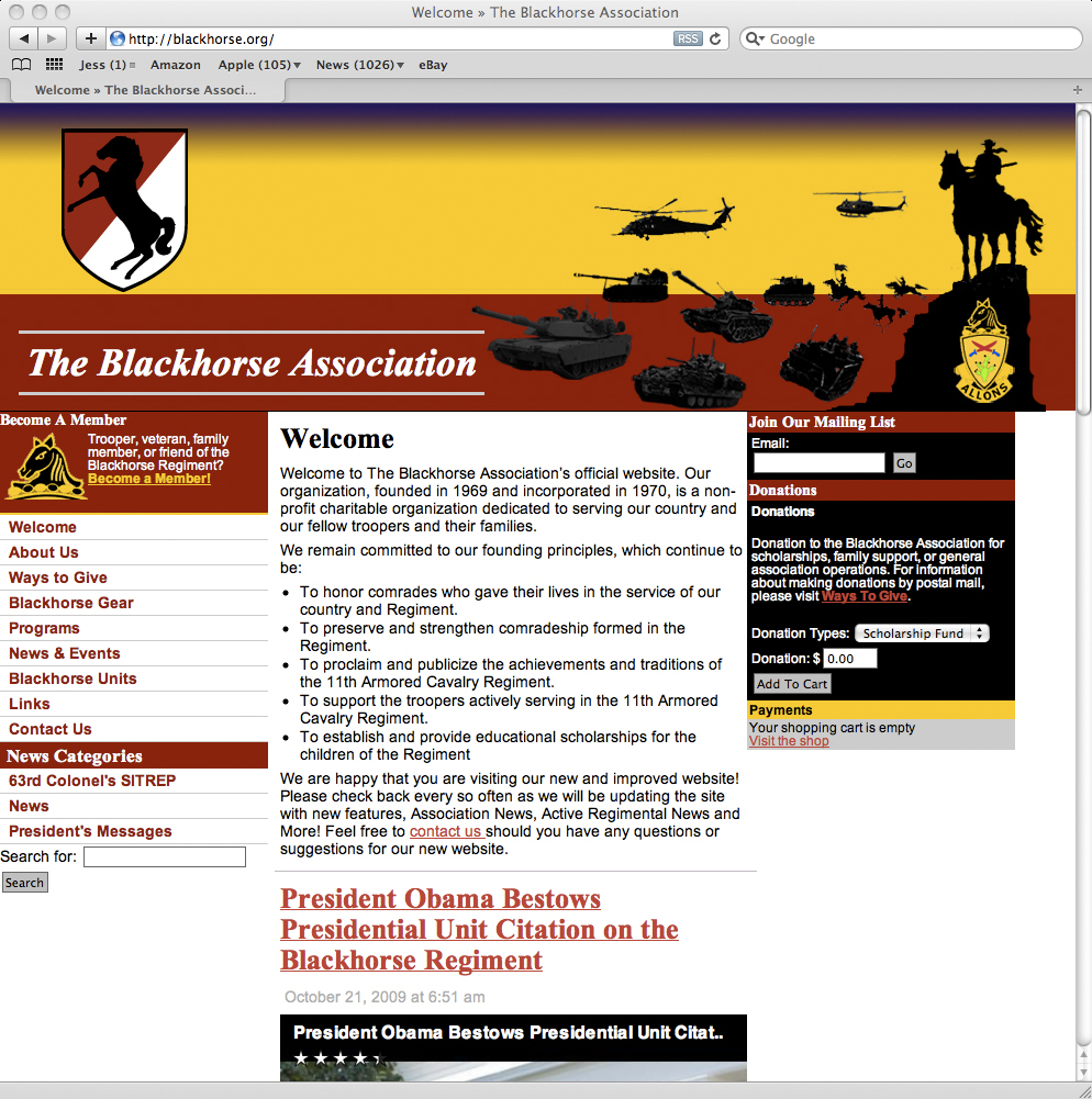 Blackhorse Association Website