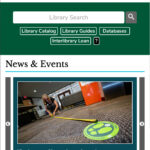 Tulane Libraries Website - Mobile version